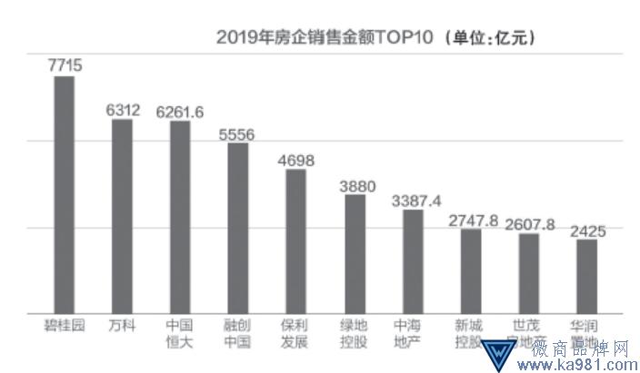 """2019""""千亿""""房企增至36家 """"碧万恒""""卖了2万亿"""